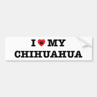 I Heart My Chihuahua Bumper Sticker