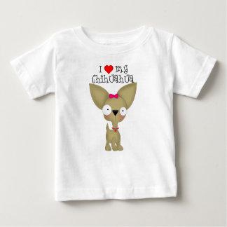I Heart My Chihuahua, Girl Baby T-Shirt