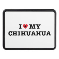 I Heart My Chihuahua Hitch Cover