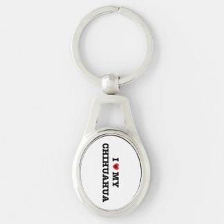 I Heart My Chihuahua Metal Keychain