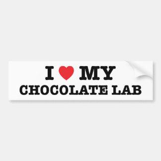 I Heart My Chocolate Lab Bumper Sticker