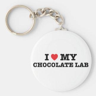 I Heart My Chocolate Lab Keychain