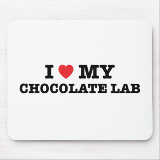 I Heart My Chocolate Lab Mouse Pad