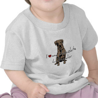"""I """"heart"""" my Chocolate Labrador with graphic! T Shirts"""