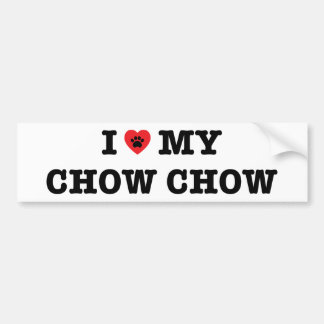 I Heart My Chow Chow Bumper Sticker