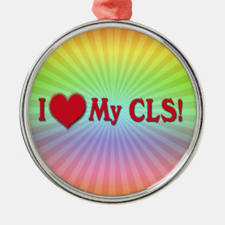 I Heart My CLS CLINICAL LABORATORY SCIENTIST Metal Ornament