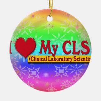 I Heart My CLS  LAB SCIENTIST Ceramic Ornament