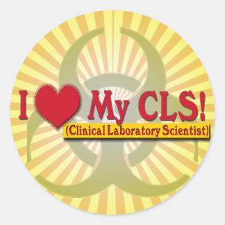 I Heart My CLS  LAB SCIENTIST Classic Round Sticker