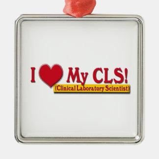 I Heart My CLS  LAB SCIENTIST Metal Ornament