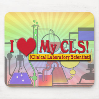 I Heart My CLS  LAB SCIENTIST Mouse Pad