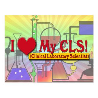 I Heart My CLS  LAB SCIENTIST Postcard