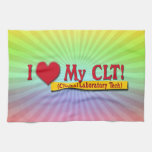 I Heart My CLTS CLINICAL LABORATORY TECH Kitchen Towels