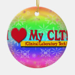 I Heart My CLTS CLINICAL LABORATORY TECH Ornament