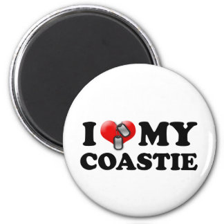 I heart my Coastie 2 Inch Round Magnet