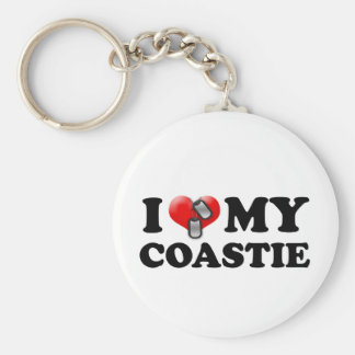 I heart my Coastie Keychain