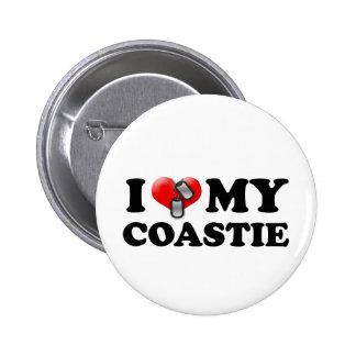 I heart my Coastie Pinback Button