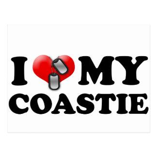 I heart my Coastie Postcard