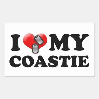 I heart my Coastie Rectangular Sticker