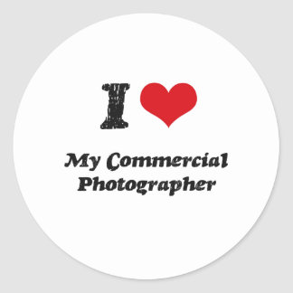 I heart My Commercial Photographer Classic Round Sticker