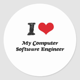 I heart My Computer Software Engineer Stickers
