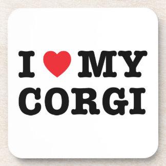 I Heart My Corgi Coaster