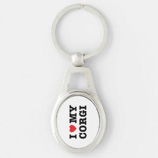 I Heart My Corgi Keychain