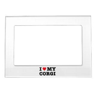 I Heart My Corgi Magnetic Photo Frame