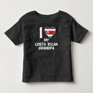 I Heart My Costa Rican Grandpa Toddler T-shirt