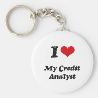I heart My Credit Analyst Keychains