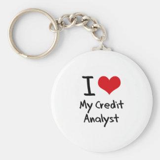 I heart My Credit Analyst Key Chain