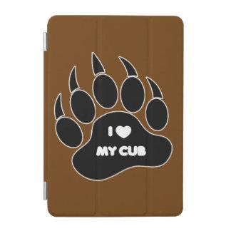 I Heart My Cub In Black Paw iPad Mini Cover