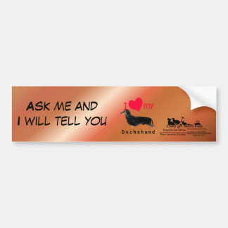 I Heart My Dachshund Car Bumper Sticker