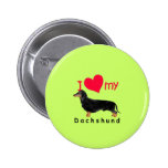 I Heart My Dachshund Buttons