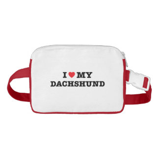 I Heart My Dachshund Fanny Pack