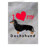 I Heart My Dachshund Greeting Card