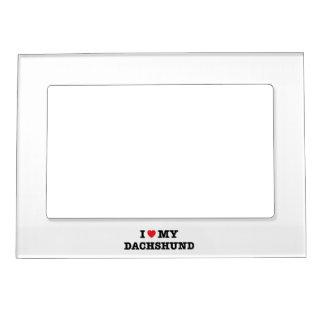 I Heart My Dachshund Magnetic Photo Frame