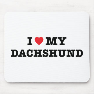 I Heart My Dachshund Mouse Pad
