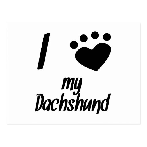 I Heart My Dachshund Postcards