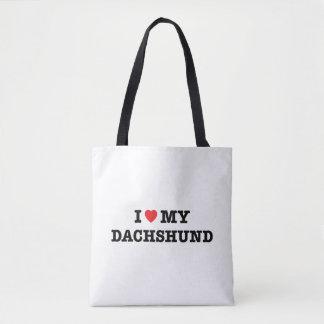 I Heart My Dachshund Tote Bag