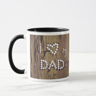 I Heart My Dad on Wood-Look Graphic Mug