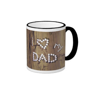 I Heart My Dad on Wood-Look Graphic Mugs