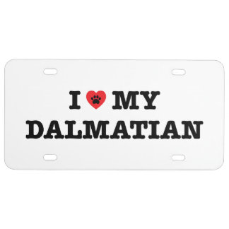 I Heart My Dalmatian License Plate