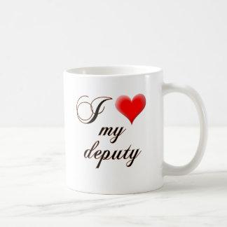 "I ""heart"" My Deputy Coffee Mug"