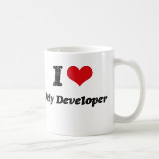 I heart My Developer Classic White Coffee Mug