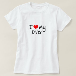 I Heart My Diver Fitted Tee