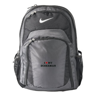 I Heart My Doberman Nike Backpack