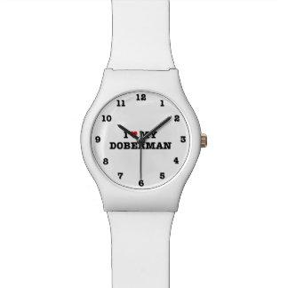 I Heart My Doberman Numbered Wristwatch