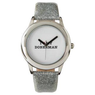 I Heart My Doberman Wristwatch