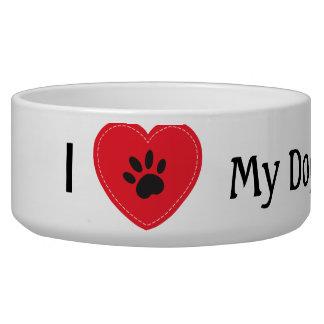 I Heart My Dog Bowl