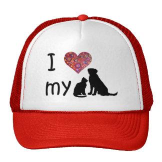I heart my Dog & Cat Trucker Hat